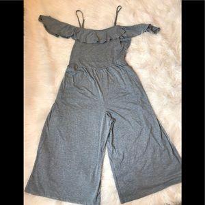Time And Tru Pants Grey Knit Jumpsuit Size Xxl Poshmark